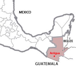 Map of destinations for Spanish courses in Guatemala